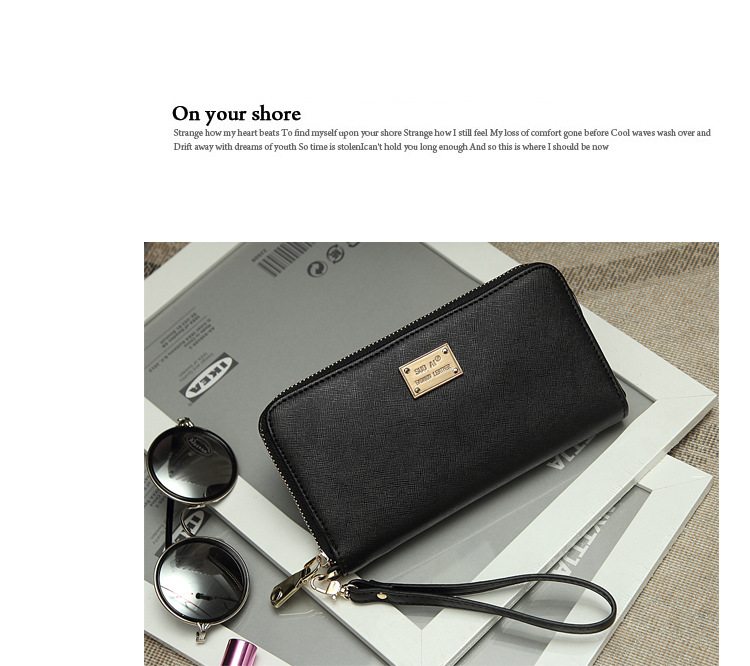 Women's short wallet women's Korean version zipper two fold Wallet cross multi card zero wallet