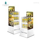 Cardboard Display Stands with Customized Logo Printed for Olive Oil, Corrugated Cardboard Display Stand for Shop Retail