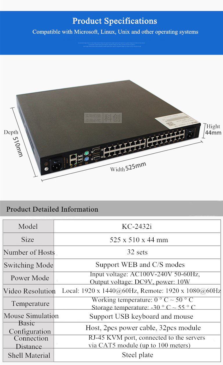 Digital KVM 32 Port KVM Switch con 2 independiente canales a distancia