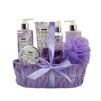 Beauty lavender wash body mist bath home spa bath gift basket sets women