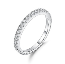 Rispettosi <span class=keywords><strong>Moissanite</strong></span> <span class=keywords><strong>Anello</strong></span> <span class=keywords><strong>di</strong></span> Fidanzamento <span class=keywords><strong>Diamante</strong></span> 925 Gioielli In Argento Sterling Eternity Wedding Band <span class=keywords><strong>Anello</strong></span>