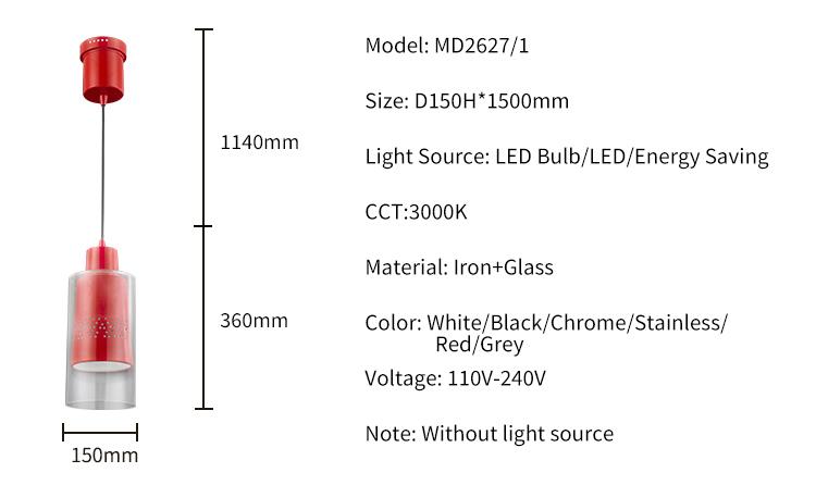 Hot selling battery operated vintage Iron edison modern pendant lighting