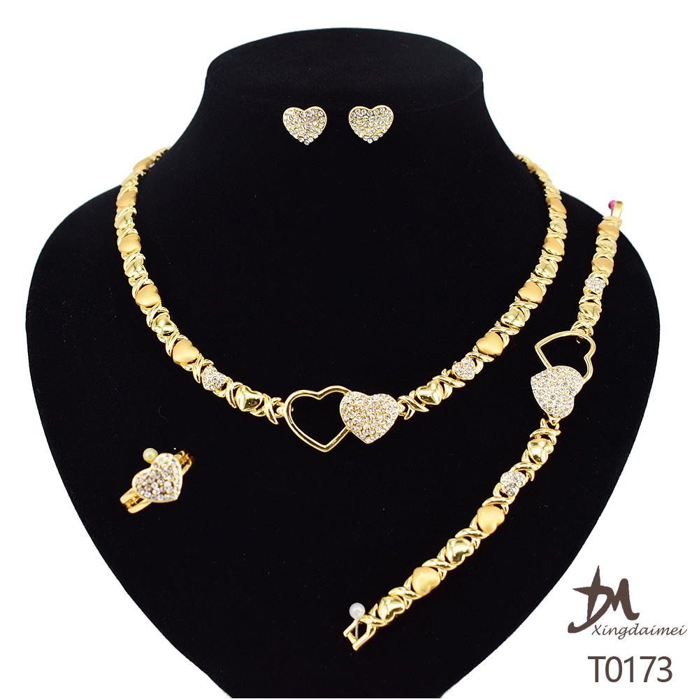 T0173 african High quality 24k gold plating jewelry <strong>set</strong>
