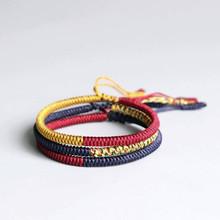 Мужские и женские браслеты с крестообразной подвеской Vnox, ручной работы, плетеный китайский узел, водонепроницаемый регулируемый браслет, ...(Китай)