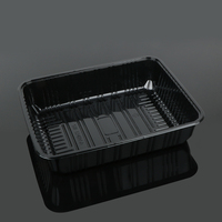 Disposable rectangle food grade plastic large fruit packing trays