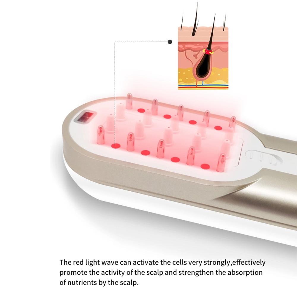 2020 красота уход за волосами ems rf анион Электрический красный свет терапия лазер для роста волос Массажная расческа против выпадения волос щетка