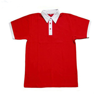 hot sale men's white polo shirt with red collar plain polo shirts custom design wholesale t-shirts