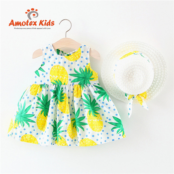 Cute Print Fashion Party Kid 4 Year Girl Dress