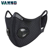 VANNO Running Cycling Activated Carbon Dust Proof Pollution Anti Pollen Allergy PM2.5 Face Shield
