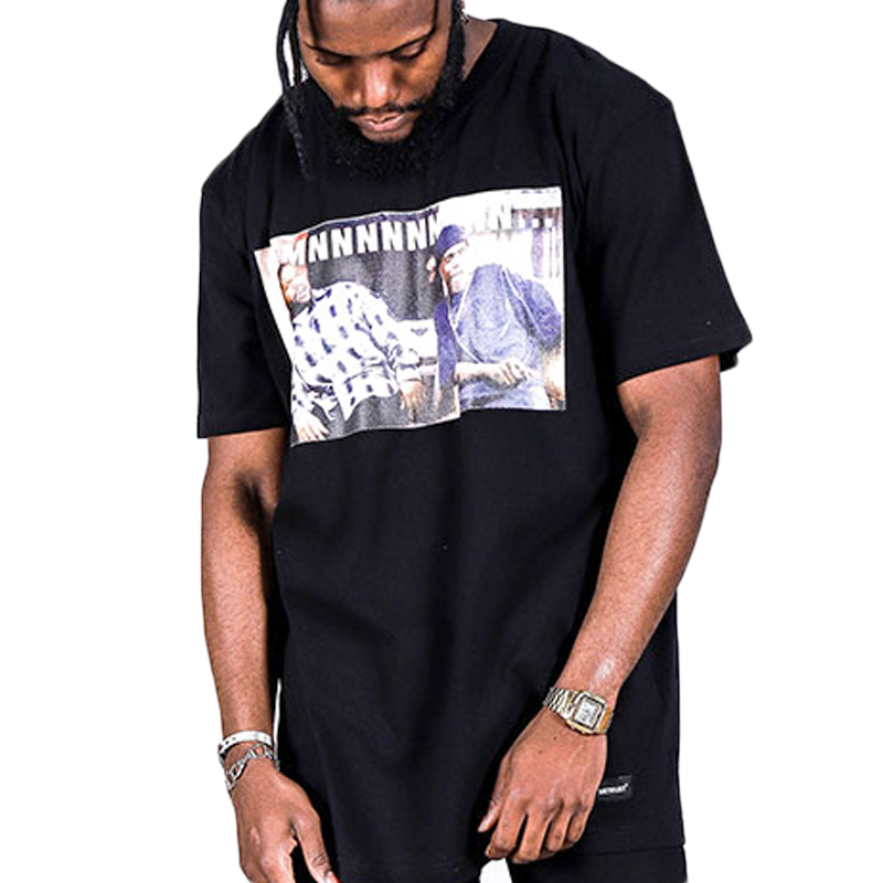 Hot New Products Originality Hip Hop Mens Clothing , Custom Printing Black Men T Shirts