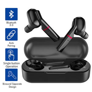 Sport Bluetooth Earphones with 400mAh Portable Charging Case Waterproof Dual Earphones