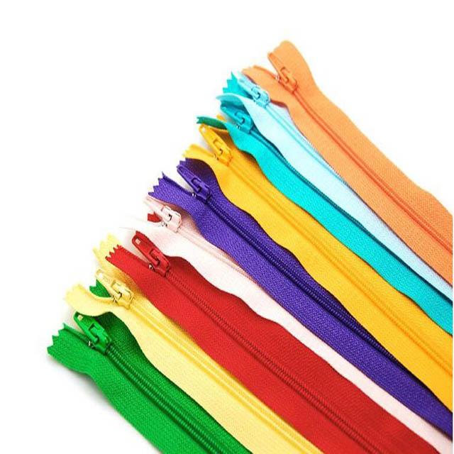 100 Cái/túi 28 Cm 35 Cm 40 Cm 50 Cm 55 Cm 60 Cm Dài Vô Hình Đa Màu Sắc Dây Kéo Tự Làm nylon Dây Kéo Cuộn Cho May Quần Áo Phụ Kiện