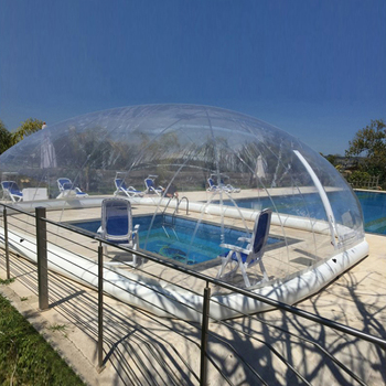 Outdoor complete transparent rectangular blow up inflatable pool cover from China inflatable pool dome manufacturer