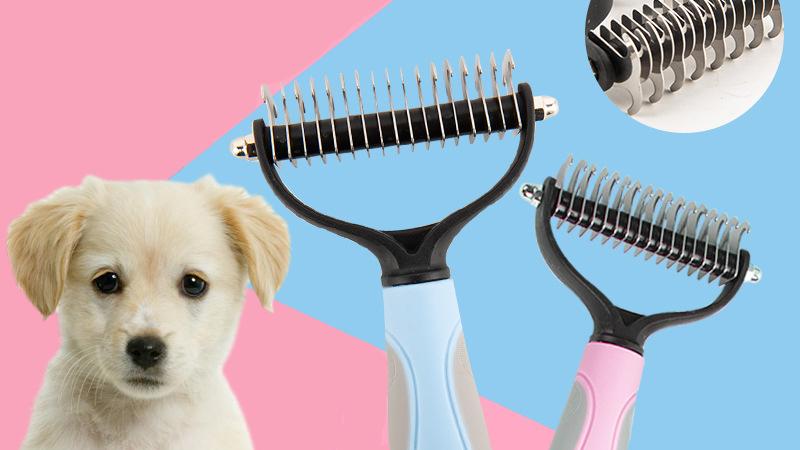 แปรงขัดฟันสเตนเลสสตีลสามารถถอดเปลี่ยนได้,หวีนวดขนสัตว์เลี้ยงหมาแมว8