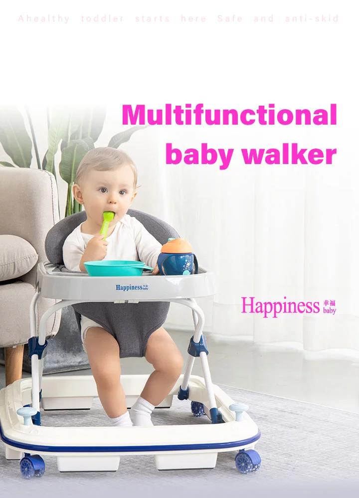 Dazhou Latest family use polypropylene frame baby walkers with wheel