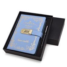 A5 Ретро Ноутбук с паролем, книга с замком, креативные школьные Канцтовары, личный дневник, дневник чехол для планировщика(Китай)