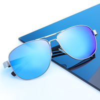 KUAN FASHION Brand 2019 Design TAC Polarized Sun glasses Pilot Aviation Driving vintage sunglasses for men uv 400