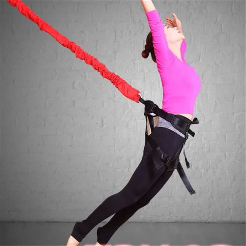 Special Designed Fitness Flying Yoga Bungee Dance Cords With Hook Bungee Rope Indoor Yoga