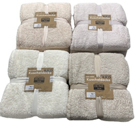 100% Polyester Knitted Sherpa fleece blanket 150X200cm