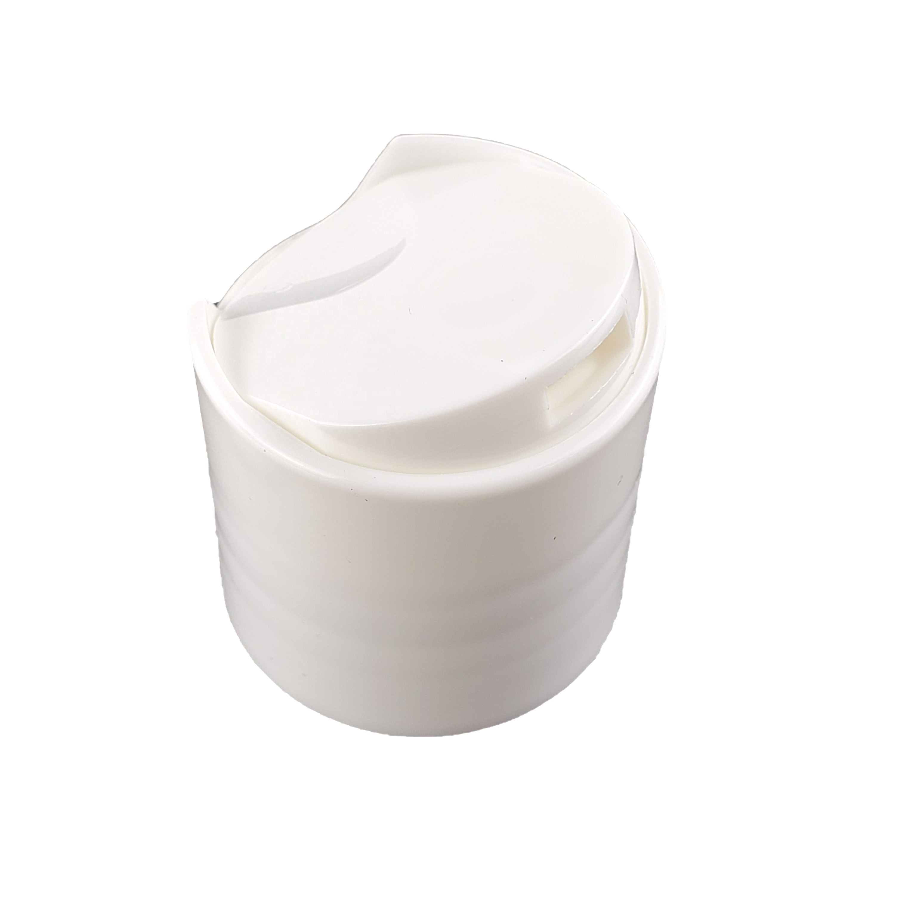20 24 410 Dispensing plastic white disc top lid cap