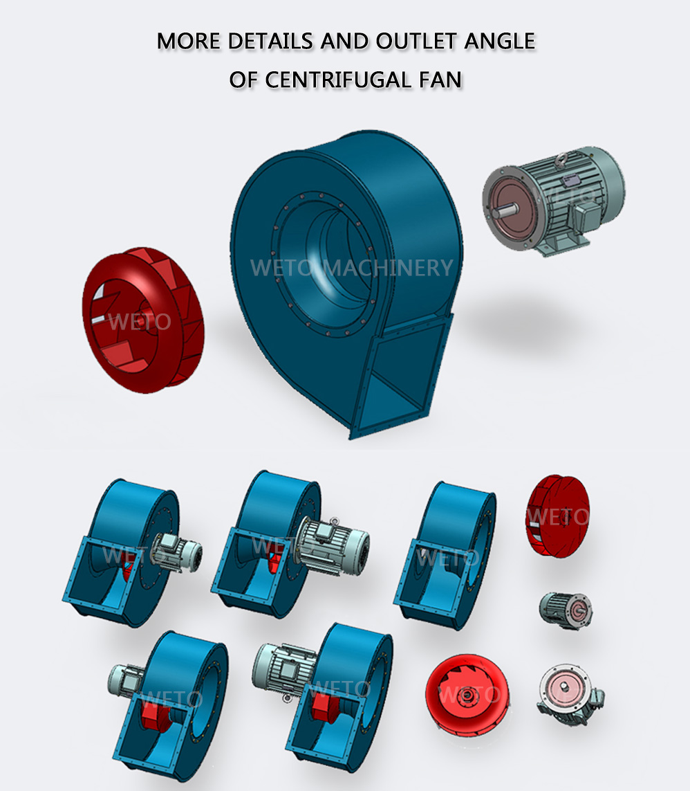 Gas conveying 3500 cfm centrifugal gas blower fan