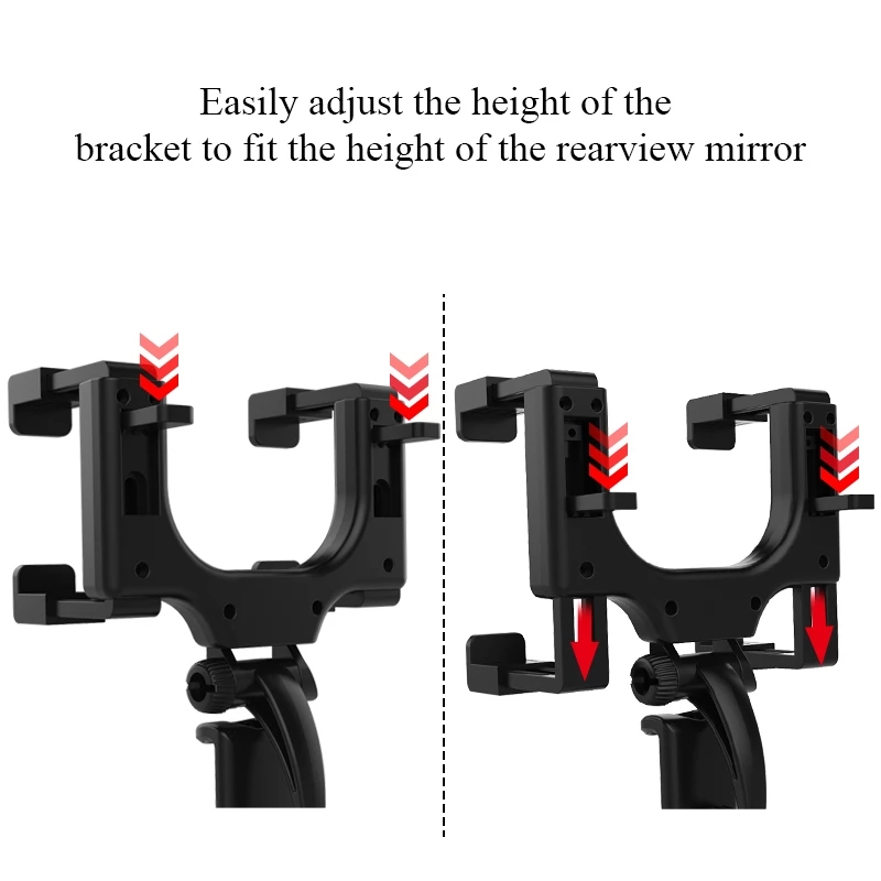 360 Degrees Car Rearview Mirror Mount Car Phone Holder For iPhone 12 GPS Smartphone Stand Universal