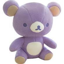Лавандовая плюшевая кукла Rilakkuma, фиолетовый Мишка, мягкая игрушка, каваи, аниме плюшевая игрушка, милый подарок для украшения комнаты девушк...(Китай)