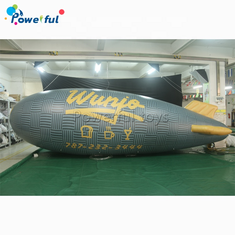 8m length 0.18mm PVC Advertising inflatable helium blimp balloon