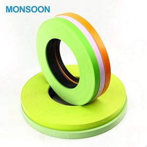 Monsoon Colored Plastic Strips Decorative Door Wood Grain Edge Banding Cabinets PVC Edging Table Decorative Metal Edging For Fur