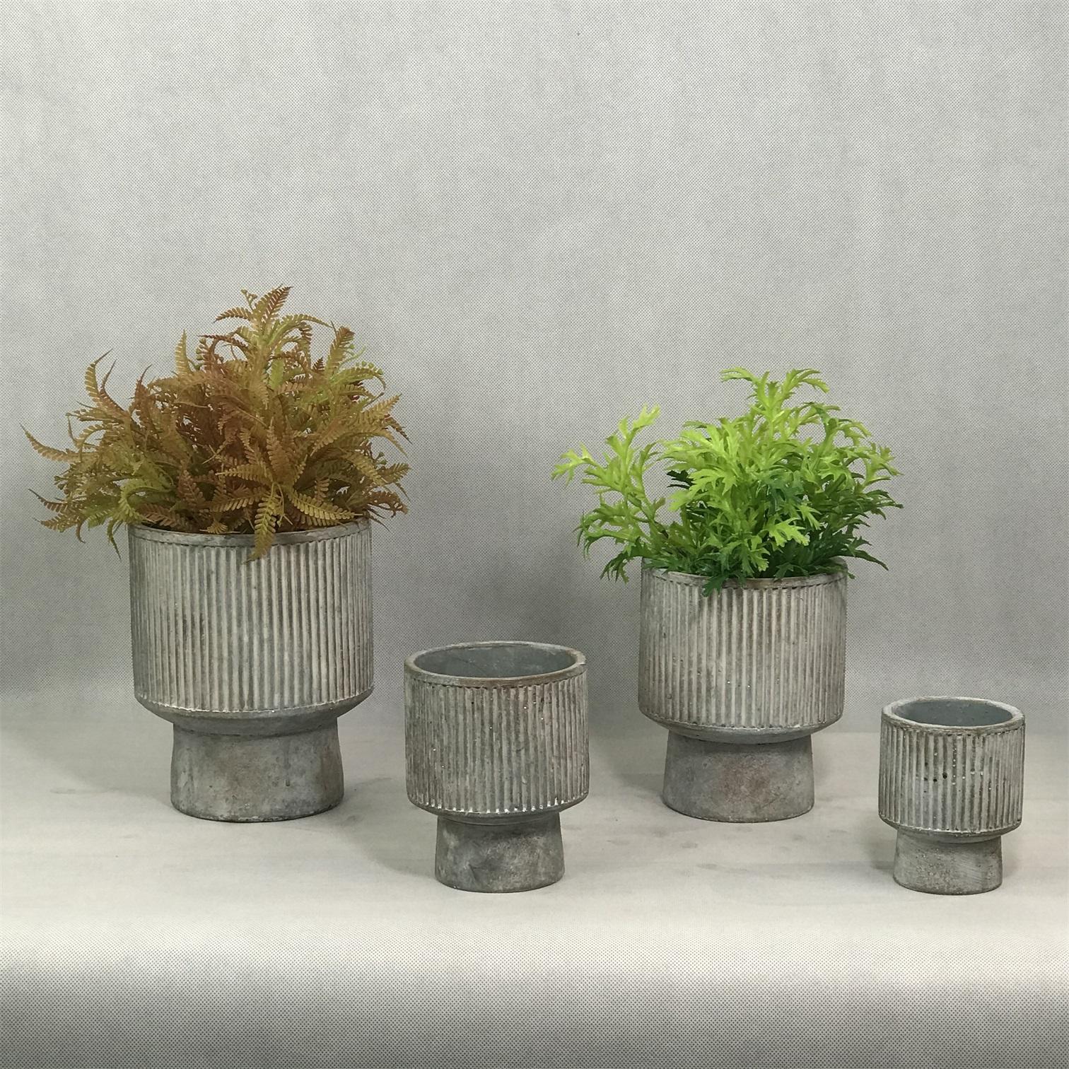 European style unique handmade cement flowerbed pot indoor garden plants