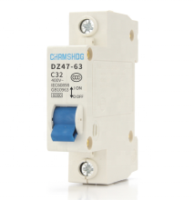 Air Switch Breaker DZ47-63 1P 2P 3P 4 Tiang C32A Miniature Circuit Breaker DZ47 60Hz 10A 16A 20A C45
