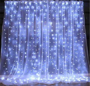 Vintage Outdoor Christmas Decorations Led Window Light Curtain Wall Light with Adapter