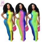 S3089 Fashion Colorful Sleeveless Tie Dye Backless 2020 Maxi Long Lady Elegant Sexy Clothes Summer Women Girls' Casual Dress