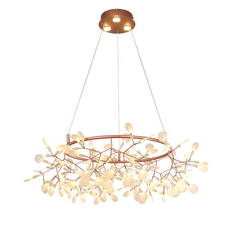 factory wholesale copper metal acrylic led long-life firefly chandelier