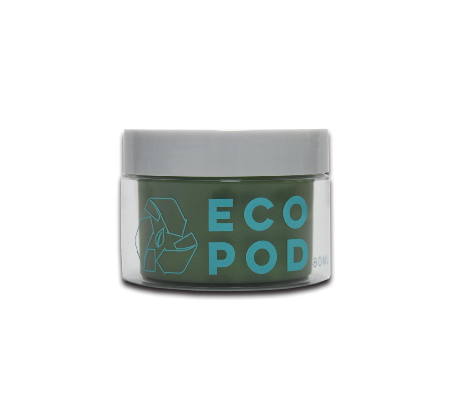 Biologisch abbaubar Kosmetische Verpackung Creme Container 80g PCR Creme Jar mit Schraube Kappe ECO Friendly Cosmetic Jar