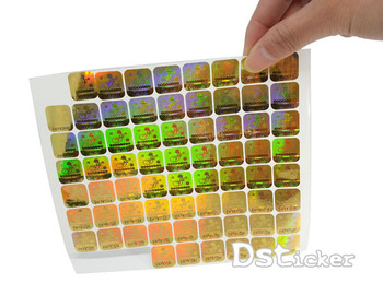 Custom  Holographic Stickers Label, Adhesive Laser Hologram Sticker