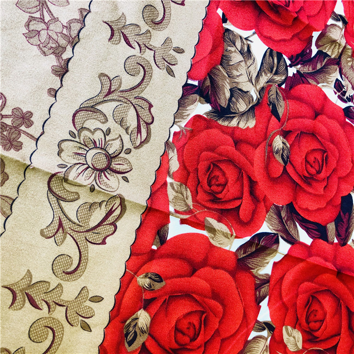 suppliers twill disperse 3d rose flower printed fabric 100% polyester microfiber bed sheet textile fabric Pakistan market 120gsm