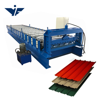 YUFA 2020 corrugated roof sheet making galvanized steel shutter door roll forming machine