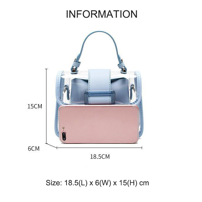 product-GF bags-2020 New Transparent Bag Clear Bag Jelly Bag Handbag Cross-body Bags For Women Ladie