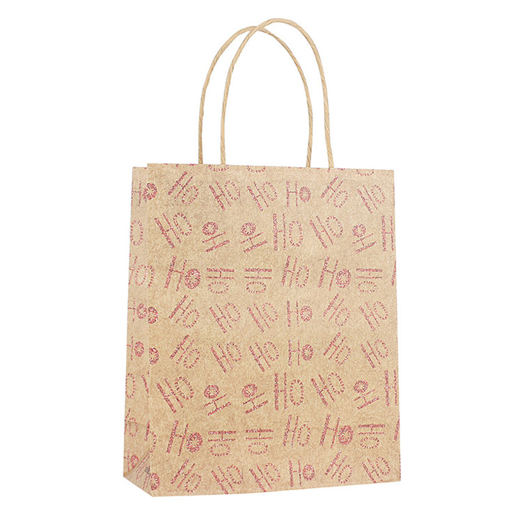 Coffee Coke Juice Take-Out Food Sandwich Print Custom Brown Handle Shopping Craft Paper Bag