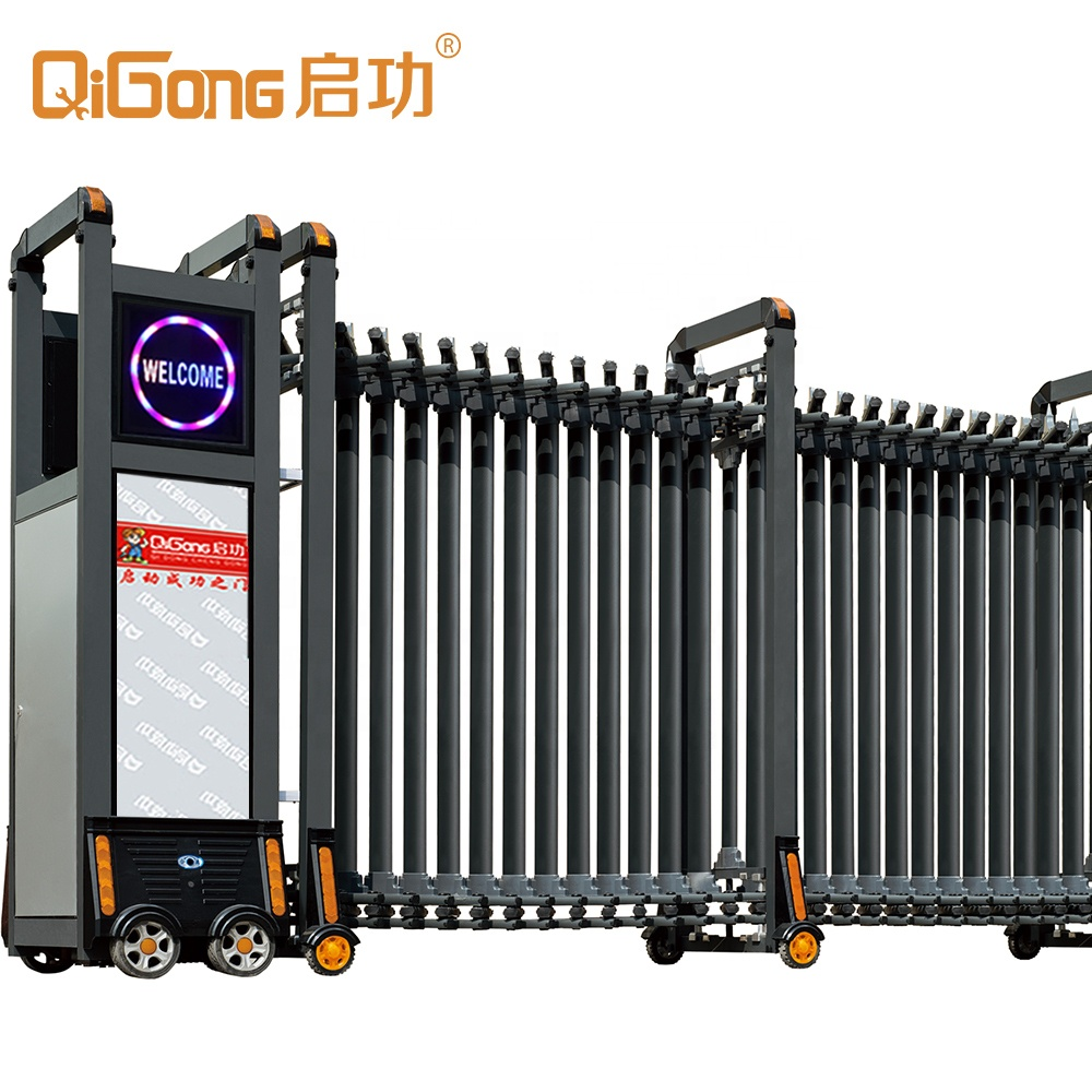 Automatic Retractable Collapsible Gates main gate with Safety Sensor