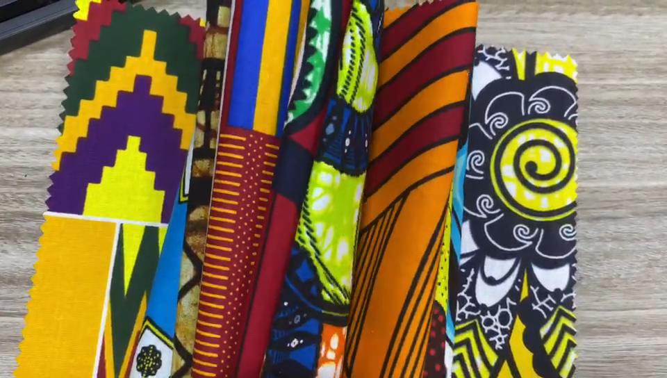 מותאם אישית עיצוב 6 מטרים אנקרה הולנד חומר סופר אפריקאי שעוות הדפסת בד