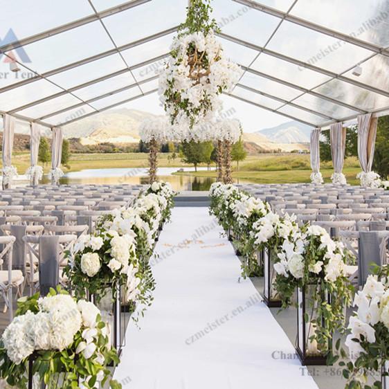 Heavy duty PVC transparente tecido festa de casamento tenda tenda preços