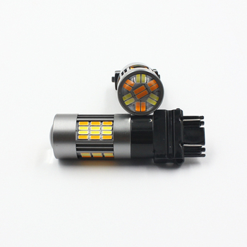 Dual Color 1157 7443 3157 t25 t20 62smd Dual-Color Switchback LED Bulbs Brake Lights white yellow Signal DRL led bulb