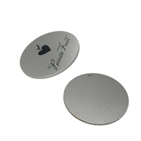 Customized Stamping Round Aluminum / Stainless Steel Blank Tag Charms