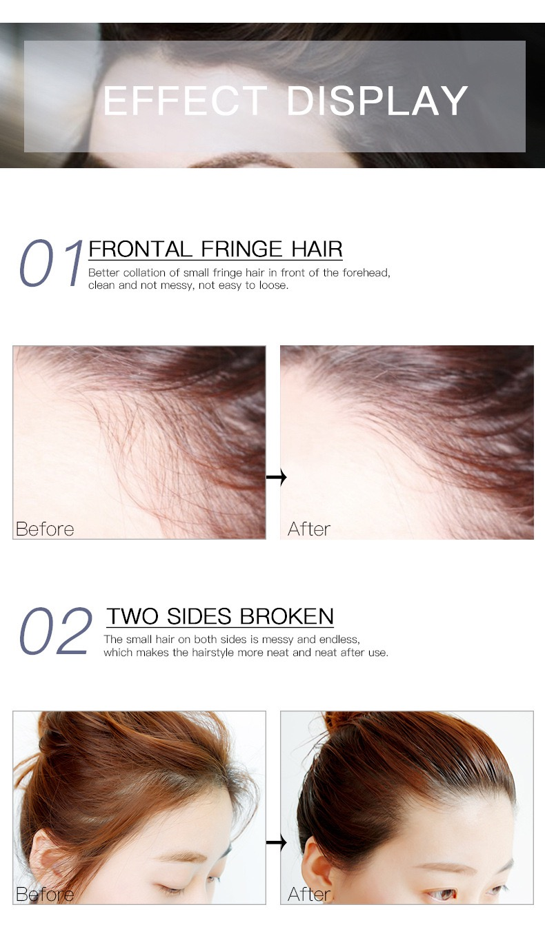 Finishing Hair Cream Small Broken Hair Style Gel For  Fixing Hair Cream Private Label Not Greasy Gel Cream
