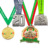 Supplier manufacturer custom wholesale design cheap personalized award 3D gold blank race souvenir metal sports medals