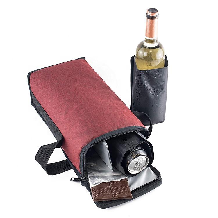 Portable Wine Cooler Bag Leak Proof Soft Sided Travel Cooler