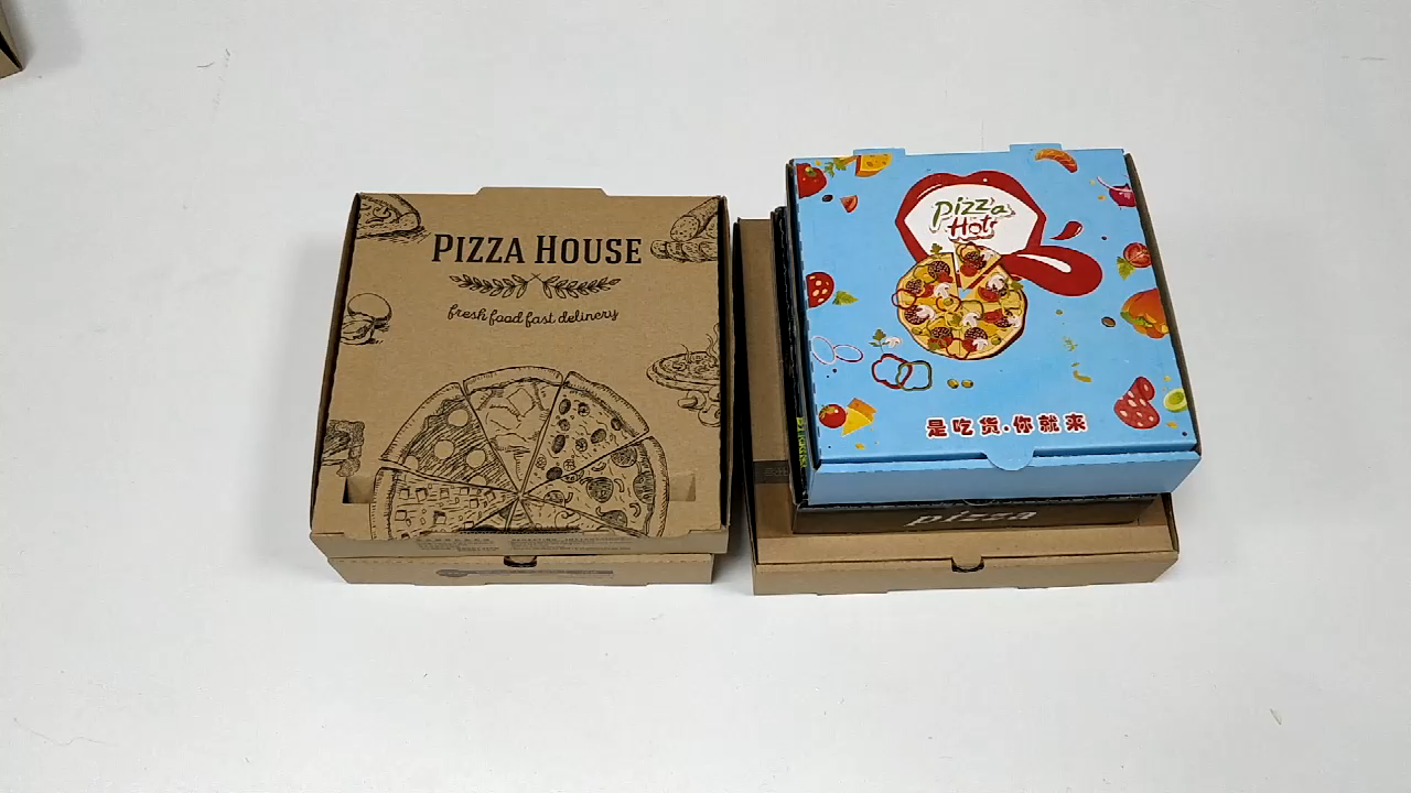 FSC Wholesale high quality chinese products custom biodegradable kraft paper pizza box fast food box take away food box
