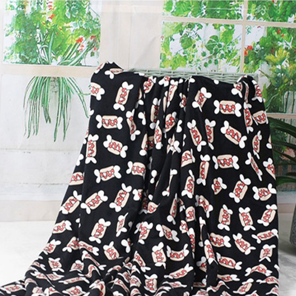 100% polyester impression personnalisée couverture de motif